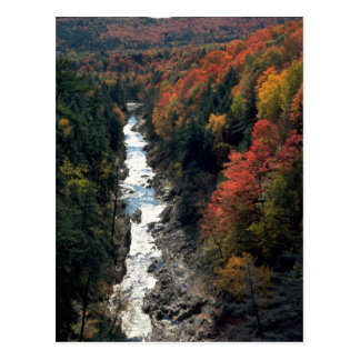 Fall foliage at Queechee Gorge, Queechee, Vermont, Post Cards