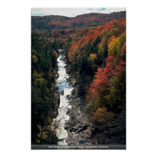 Fall foliage at Queechee Gorge, Queechee, Vermont, Print