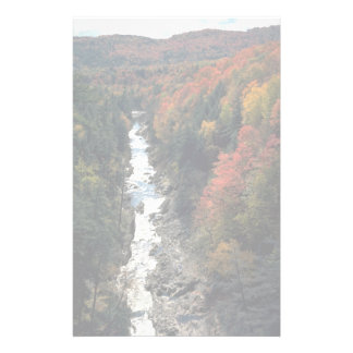 Fall foliage at Queechee Gorge, Queechee, Vermont, Stationery