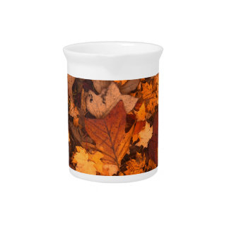 fall-foliage beverage pitcher