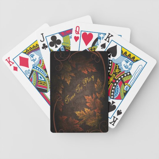 Fall Foliage Bicycle Playing Cards