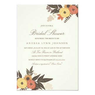 Fall Foliage Bridal Shower Invitation