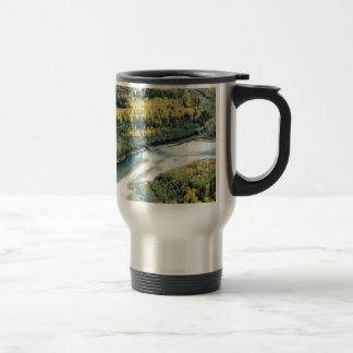 FALL FOLIAGE BRIGHTENS THE LANDSCAPE 15 OZ STAINLESS STEEL TRAVEL MUG