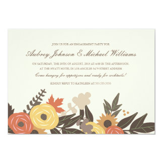 Fall Foliage Engagement Party Invitation