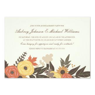 Fall Foliage Engagement Party Invitation