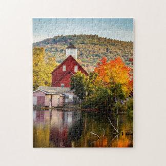Fall Foliage Grist Mill Ashland New Hampshire Jigsaw Puzzle