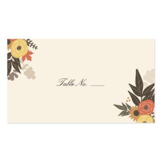Fall Foliage Guest Escort Cards