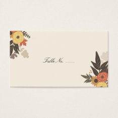 Fall Foliage Guest Escort Cards at Zazzle