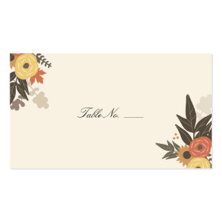 Fall Foliage Guest Escort Cards Business Cards