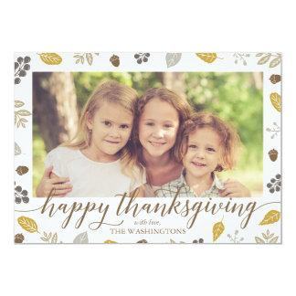 Fall Foliage Happy Thanksgiving Photo Card
