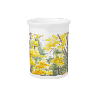 Fall Foliage in Adlershof Drink Pitcher