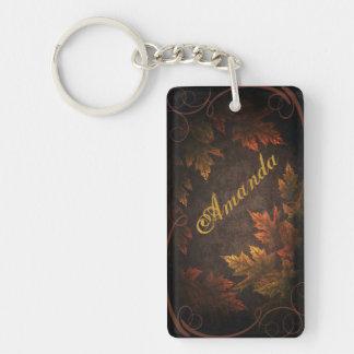 Fall Foliage Keychain