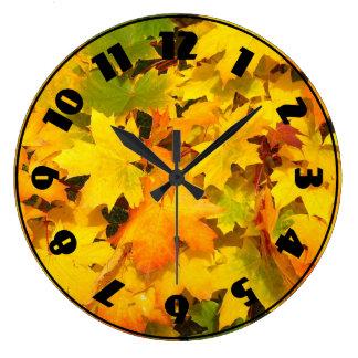Fall Foliage Large Clock