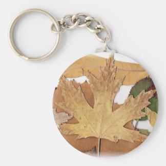 Fall Foliage Maple Leaf Keychain