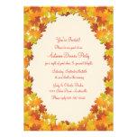 Fall Foliage Oval Invitation