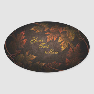 Fall Foliage Oval Sticker