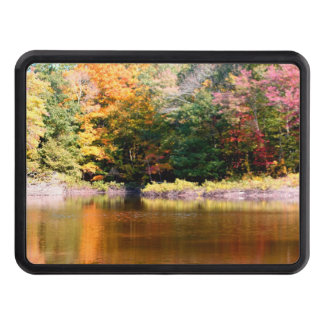 Fall Foliage Over A Pond Trailer Hitch Cover