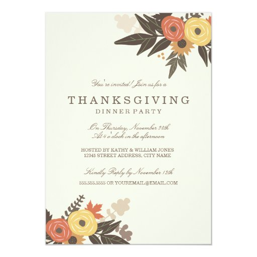 Thanksgiving cards thanksgiving card templates postage invitations photocards more zazzle for Thanksgiving invite template