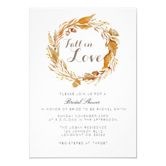 Fall Foliage Watercolor | Bridal Shower Invite