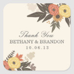 Fall Foliage Wedding Favor Stickers