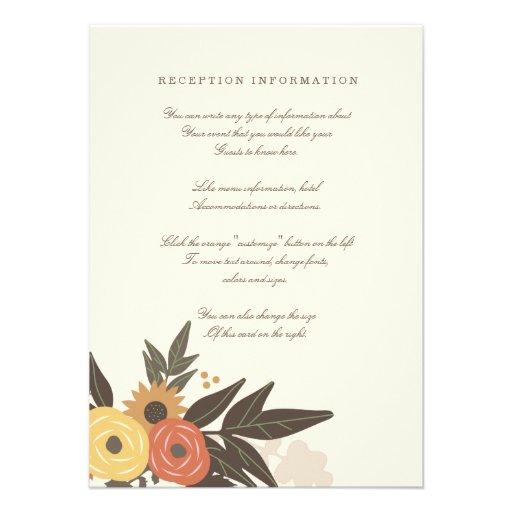 Fall Foliage Wedding Insert card