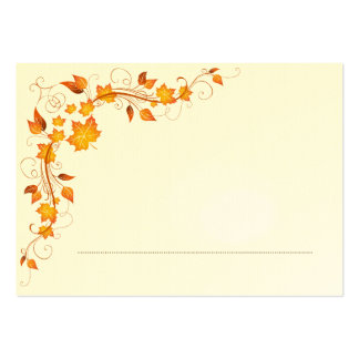 Fall Foliage Wedding Place Card 2 Business Card Templates