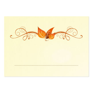Fall Foliage Wedding Place Card 3 Business Cards