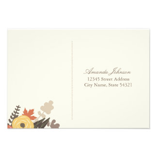Fall Foliage Wedding RSVP Postcard Custom Announcement
