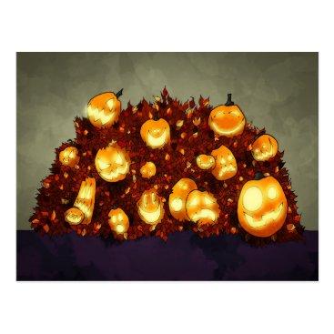 Halloween Themed Fall Foolishness Postcard