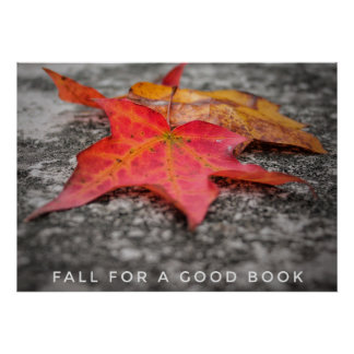 Fall for a Good Book Classroom and Library Poster