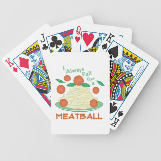 Fall For A Meatball Bicycle Playing Cards