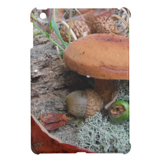 Fall Forest floor Acorns mushrooms and moss Cover For The iPad Mini