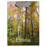 Fall Forest I Autumn Landscape Photography Clipboard