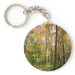 Fall Forest I Autumn Landscape Photography Keychain