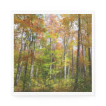 Fall Forest I Autumn Landscape Photography Paper Napkin