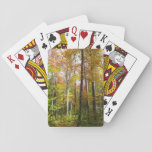 Fall Forest I Autumn Landscape Photography Playing Cards