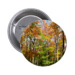 Fall Forest II Autumn Landscape Photography 2 Inch Round Button