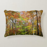 Fall Forest II Autumn Landscape Photography Accent Pillow