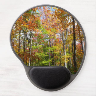 Fall Forest II Autumn Landscape Photography Gel Mouse Pad