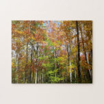 Fall Forest II Autumn Landscape Photography Jigsaw Puzzle
