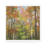 Fall Forest II Autumn Landscape Photography Paper Napkin