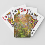 Fall Forest II Autumn Landscape Photography Playing Cards