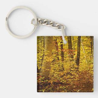 Fall forest keychain