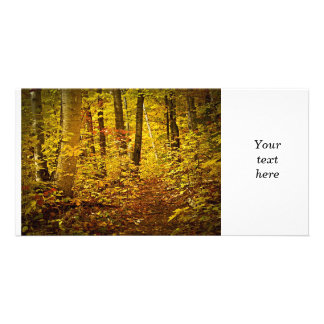 Fall forest personalized photo card