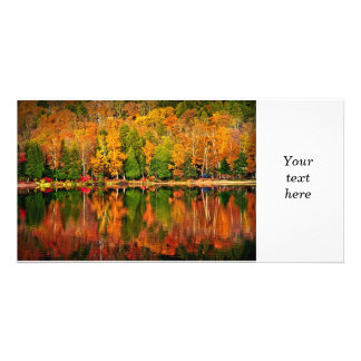 Fall forest reflections photo card
