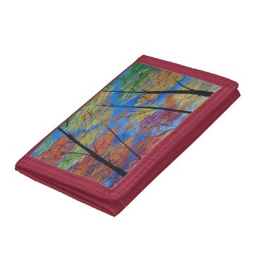 paintingbuzz Fall Forest Wallet