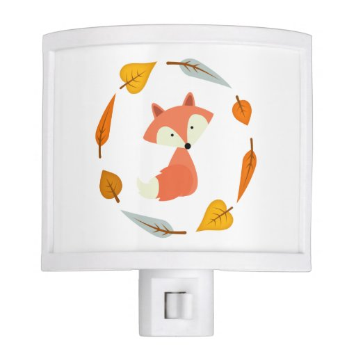 Fall Fox Night Light