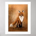 Fall Fox Poster