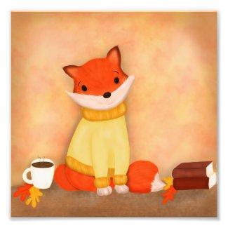 Fall Fox Print