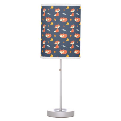 Fall Foxes Pattern Table Lamp